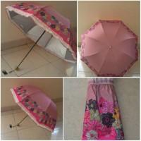 Flower Umbrella UV brown pink