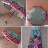 Flower Umbrella UV blue