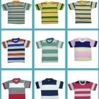 Kaos Anak T Shirt Oblong Salur - Belang S 1-3 Tahun