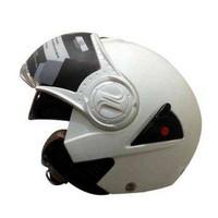 Snail Helm Half Face Retro 622 Double Visor Mika Helm Pendek - Putih