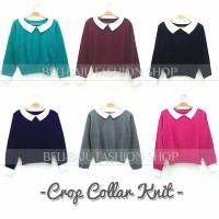 harga Model Baju Korea - Crop Collar Knit Tokopedia.com