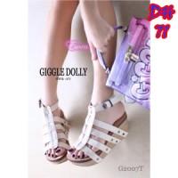 harga Dh71 Cream Sepatu Pesta Wanita Korea Tali Strap Wedges Shoes Murah Tokopedia.com
