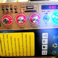 """POWER AMPLIFIER STEREO AC 220 & DC 12V """"ACOUSTIC AC-137"""" FULL KARAOKE"""
