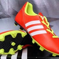 Sepatu Bola / Futsal / Adidas 11Nova Orange Strip Putih KW Super