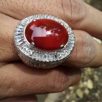 Batu Akik Khas Pacitan Red Baron Fire Chalcedony