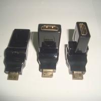 Konektor Adapter HDMI Female To Mini HDMI Male Flexible 360 Derajat