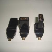 Konektor Adapter HDMI Female To Micro HDMI Male Flexible 360 Derajat