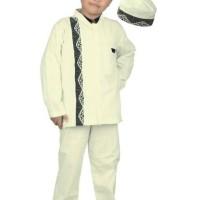 Baju Setelan Muslim Anak Laki-laki - Cream KD110