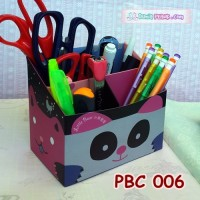 DIY Paper Pencil Box Kits Cute Panda l Organizer Alat Tulis - PBC 006