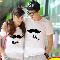 Kaos Pasangan / Baju Couple / Kembar Soulmate Mr mrs Kumis 9599