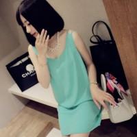 Double strap dress (green)