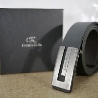 Ikat Pinggang Pria Kantor Full Kulit Import CK Calvien Klien Hitam 001