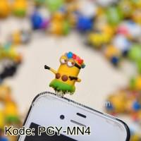 Plugy Minion Papoy Hula-Hula/ Dustplug Earphone Pluggy Kode PGY-MN4
