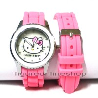 JAM TANGAN KARET HELLO KITTY