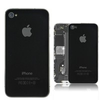 Apple Iphone 4s Back Glass - Spare Part Original Replacement- HITAM