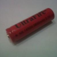 Batre cas Lithium Ion 14500 3,7V Ultrafire 3800mAh size AA utk Senter