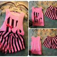 Stripe Cat Pink