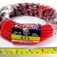 Kabel NYA 1,5 mm ETERNA MERAH 50 m / Cable Listrik Kawat Engkel Isi 1