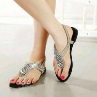 harga Mote Fashion Flat Shoes Sandal Sepatu Selop Kasut Selop Santai Wanita Tokopedia.com