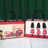 Travel Bag Kanvas Karakter London Love ( Free Ongkir )