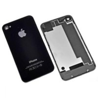 Apple Iphone 4 Back Glass - Spare Part Original Replacement - Hitam