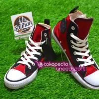 Sepatu Converse ALL STAR Maroon Eyelete HI