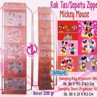 harga 1 Set Hboz & Hsoz Rak Tas Sepatu Gantung Resleting Mickey Mouse Tokopedia.com