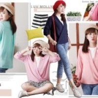 blouse Hyeri Pastel Korean