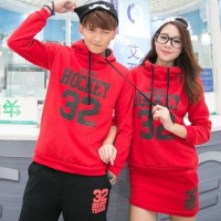 Setelan Jumper Couple Hockey SS Merah