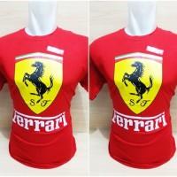 Kaos Ferrari Logo Merah