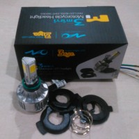 Lampu Depan Motor Led 24watt 3sisi Slim Fan