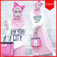 Fashion Hijab Setelan Pinky Naufalyn   Dress setelan Pinky Naufalyn