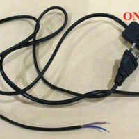 Steker + Kabel Listrik + SAKLAR ON OFF / Colokan Kabel Power Buntung