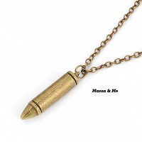 harga Kalung Korean Bronze Vintage Bullet Pendant Necklace Tokopedia.com