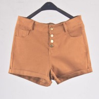 Hotpants Kancing Warna