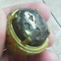 cincin batu jalasutra serat logam silfer antik unik langka