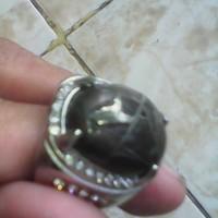 batu cincin natural alami jalasutra serat logam unik antik