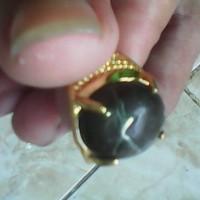 cincin motif corak unik jalasutra batu serat logam langka