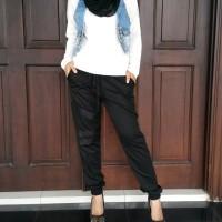 Black Jogger Pants / celana