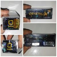 Crystal X/ Cristal X/ CX KEMASAN LAMA DOUBLE HOLO