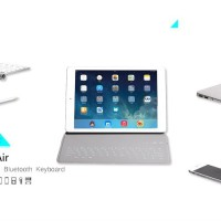 Ultra-thin Bluetooth Keyboard Leather Case Cover For iPad Air