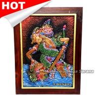 harga Lukisan Rilief / Lukisan 3D / Lukisan Wayang Brotoseno Tanding 44x33cm Tokopedia.com
