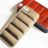 Casing HP Unik SAFA LEATHER CASE Gold IPHONE 4/4S/5/5S/6