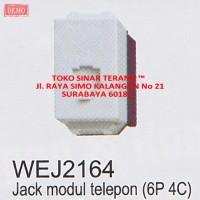 Tombol JACK Modul TELEPON PANASONIC 6P 4C WIDE Series / Jak Telpon SNI