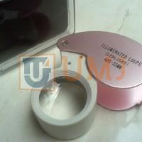 harga KACA PEMBESAR SENTER LED BATU CINCIN / ILLUMINATED LOUPE 40X-25mm Tokopedia.com