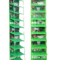 Rak Sepatu Gantung Hanging Shoes Organizer HSO Hijau Green Hello Kitty