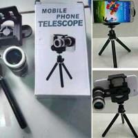 harga Mobile Phone Telescope Universal / Telezoom 8x + Tripod Tokopedia.com