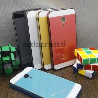 Casing Backcase Aluminium Frame Tempered Glass Two Tone Meizu Mx4 Case