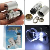 Mini Microscope / Mikroskop Kaca pembesar /teleskop/ senter batu akik