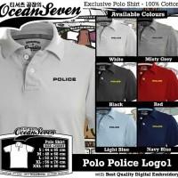 Kaos Distro Ocean Seven Polo Police Logo1